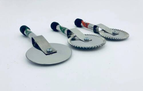 Serrated Pastry Cutter Wheel Stainless Steel Baking Pasta Dough