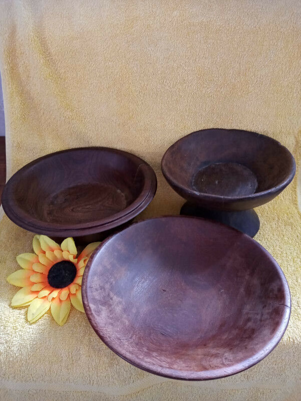 wooden plate bowls