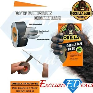 Gorilla-Tape-Handy-Roll-To-Go-1-034-wide-x-9m-Tape-Strong-Duct-Tape-by-Gorilla-Glue