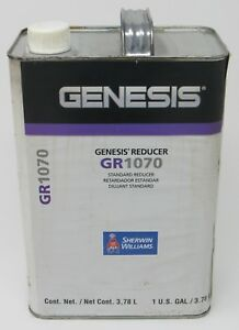 Details About New Sherwin Williams Automotive Genesis Gr1070 Standard Reducer 1 Gallon Solvent