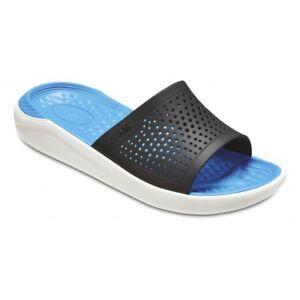 SANDALI-CIABATTE-MARE-CROCS-LITERIDE-SLIDE-uomo-relaxed-fit-blu-205183-462