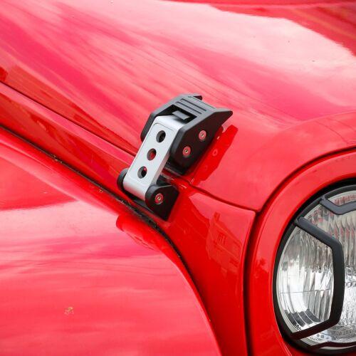 Silver Stainless Steel Latch Locking Hood Catch For Jeep Wrangler JK JKU 2007+