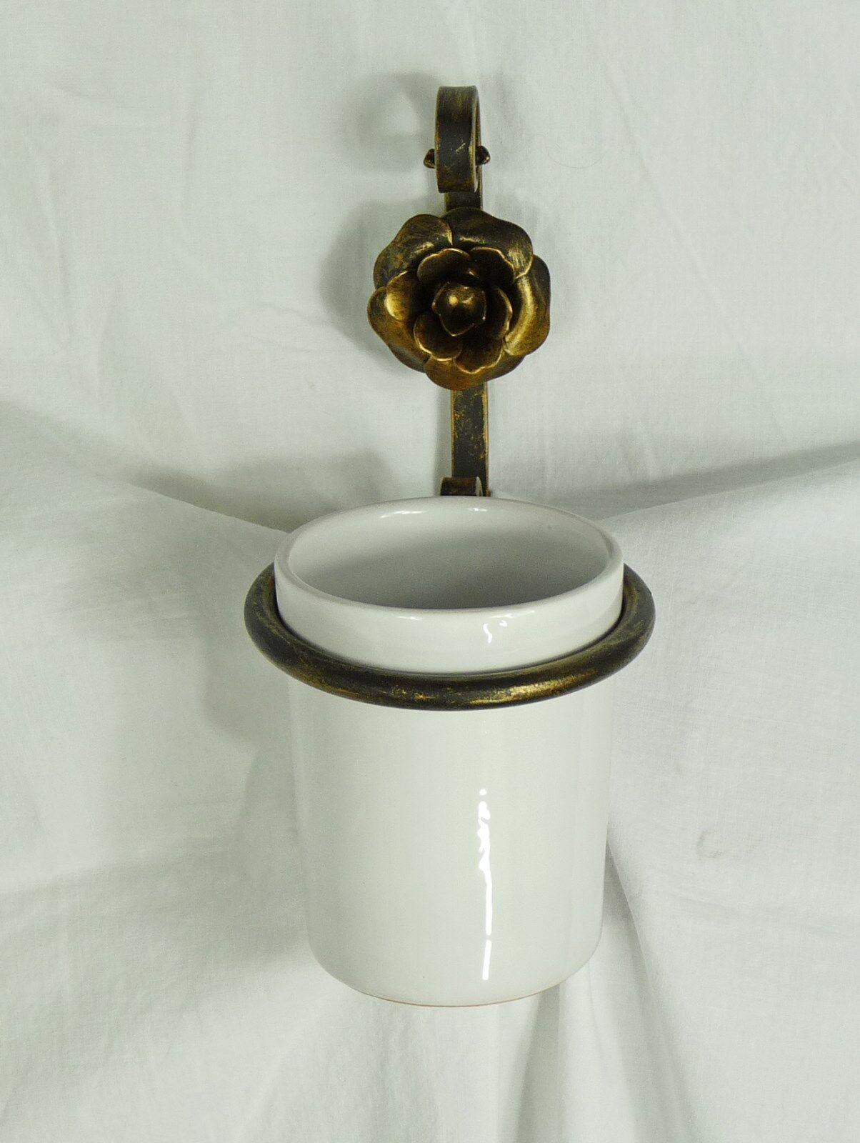 Accessori Bagno In Ferro Battuto E Ceramica.Porta Dentifricio Dentifricio Dentifricio Accessori Bagno Ceramica