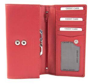 avec mince 1137 Portefeuille noir ou pour femme rouge pour femme clip en Golunski1 cuir SVqMjLUpGz