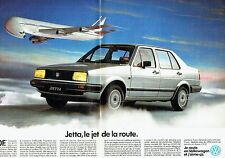 PUBLICITE ADVERTISING 037  1986  Volkswagen (2p) la  Jetta  le jet de la route
