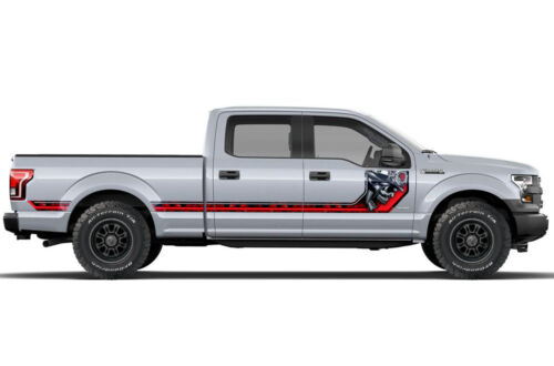 Ford F150 Rally Race Stripes Side Graphic Kit Truck Bed Decal Set 15-17 HAVOC R