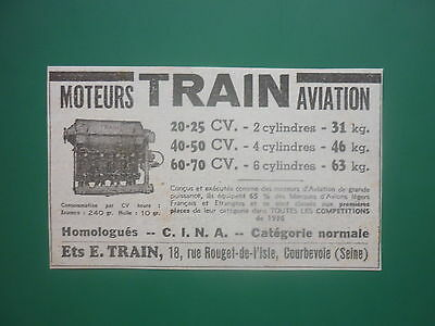 36-37 PUB HISPANO-SUIZA MOTEURS AVIATION MOTEUR 12-Y21 AERO ENGINES ORIGINAL AD