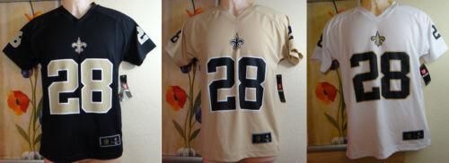 NEW W DEFECT NFL MARK INGRAM 28 New Orleans Saints beige//black Jersey,Youth
