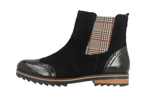 Remonte botines en talla extragrande negro r2281-03 grandes zapatos señora