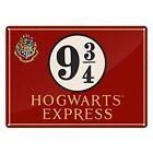 Harry Potter Hogwarts Express Platform 9 3/4 A5 Tin Sign Bedroom Garden