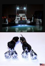 4x White LED Boat Lights Kit Waterproof Pod Bright LED Strips Marine Interior