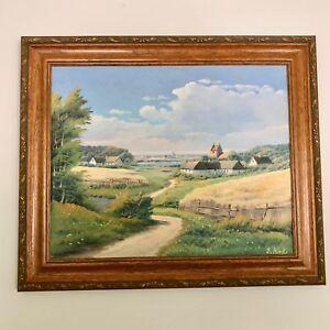 Oil-Painting-E-Birk-Original-Einar-Bogh-Jassen-1907-1977-Listed-Artist-Danish