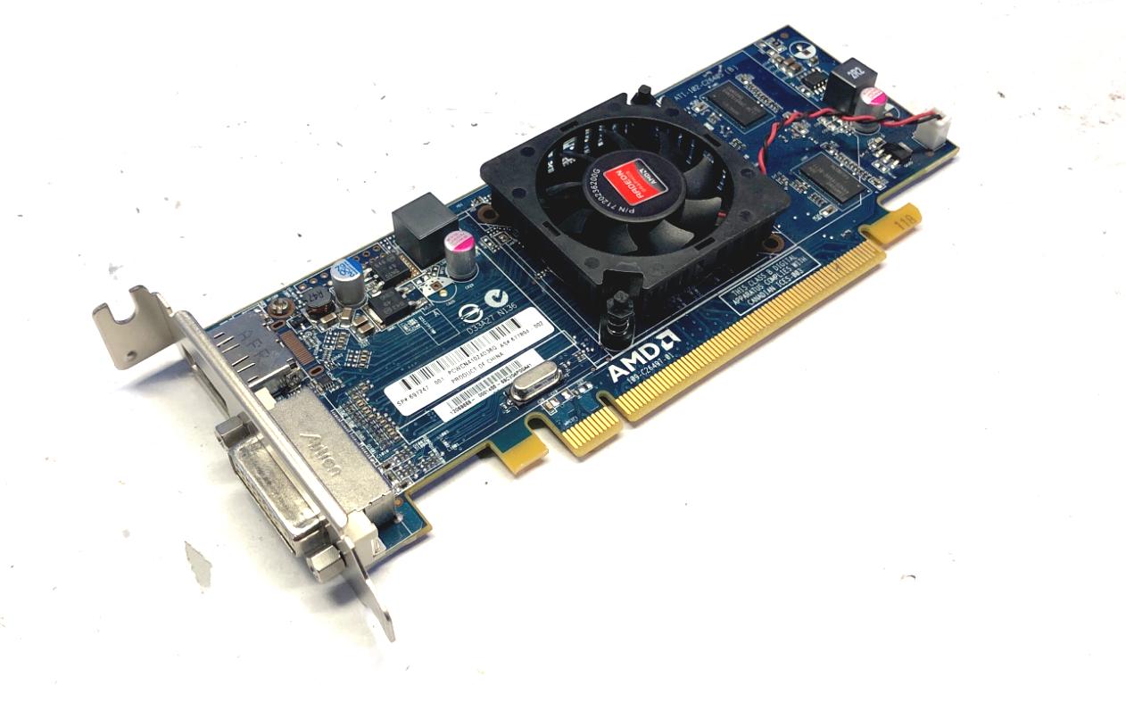 (Lot of 2) 697247-001 677894-002 HP AMD HD7450 1GB PCI-E L-Profile Video Card