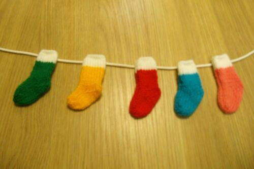 Tejer patrón Medias de Navidad Guirnalda Decoración de línea de lavado