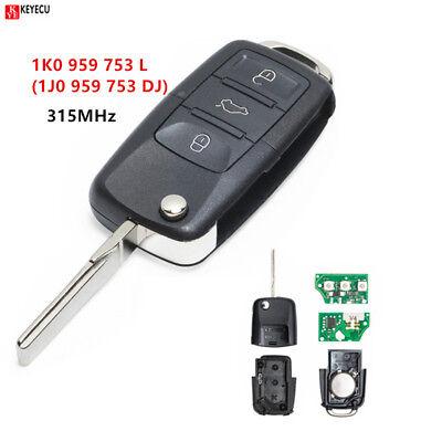 315MHZ Car Remote Key for VW/VOLKSWAGEN Bora/Golf/Passat/Sharan 1J0 959 753  DJ 9637686475566 | eBay