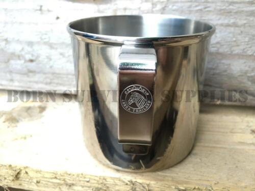 Zebra 8 cm acier inoxydable Mug Métal 400 ml Cup Bushcraft Survie Camping cantine