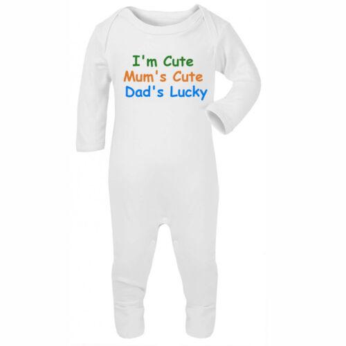 Je suis mignon drôle bébé rompasuit sleepsuit cadeau blague cool mignon grow garçon fille funky