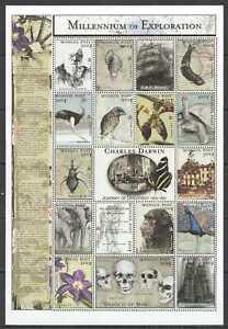 O1423-MONGOLIA-MILLENNIUM-OF-EXPLORATION-CHARLES-DARWIN-1809-1882-SH-MNH