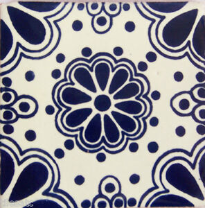"90 Decorative Clay  Mexican Tiles Talavera 4x4/"" C031"