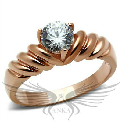 SGS International Gold Plated /& Swarovski Elements Braid Statement Ring Size 7