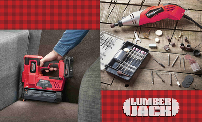 Save up to 25% off Lumberjack Tools