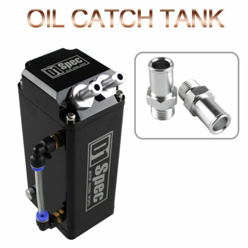 Universal D1 SPEC Engine Square Oil Catch Can Reservoir With 2 Bigger BLACK