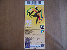 TICKET WORLD CUP 2010 ARGENTINA-REP KOREA 17/6/2010