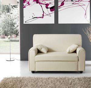 divano 2 posti ecopelle pelle con 2 cuscini salotto divanetto divani ...