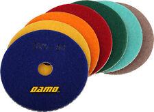 "5"" Dry Diamond Polishing Pads Set of 7 for Marble/Granite/Concrete Countertop"