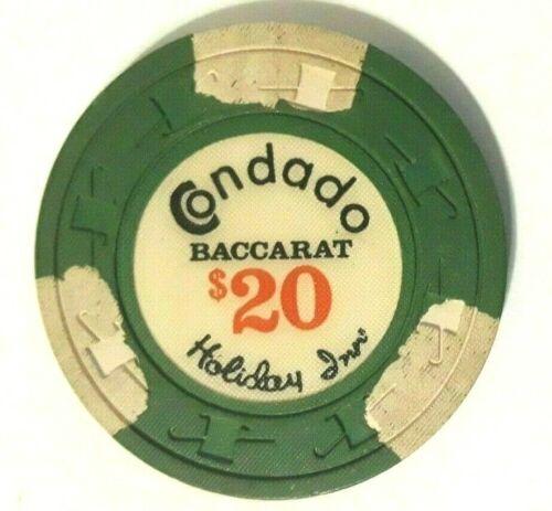 $20 CONDADO HOLIDAY INN CASINO GreWht BACCARAT Poker Chip SAN JUAN Puerto Rico