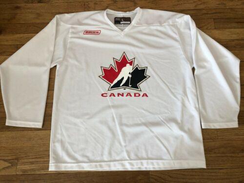 BAUER HOCKEY TEAM CANADA WHITE PRACTICE JERSEY LAR