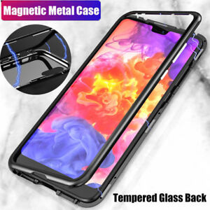 size 40 c4f61 d05c0 Details about Magnetic Adsorption Metal Case For Huawei P20 Mate 20 Pro  Tempered Glass Cover