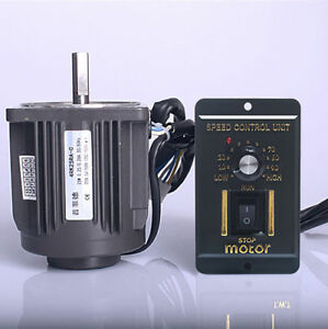 220V-25W-Optical-Axis-Deceleration-Geared-AC-Motor-1250rpm-with-Speed-Controller