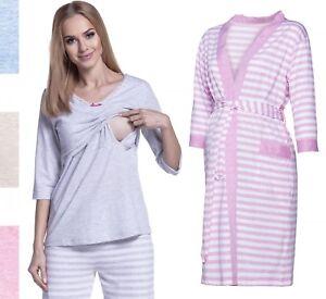 9e7be7e3b5fab Happy Mama Women's Maternity Top Nursing Pyjamas and Robe SOLD ...
