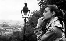 """Audrey Hepburn Lovely B&W CANVAS ART PRINT 8"""" X 12"""""""