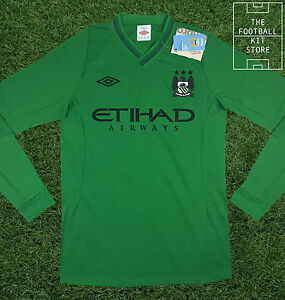 cheap for discount 79654 c7a12 Details about Manchester City Goalkeeper Shirt - Official Umbro Man City  Jersey - Large 42