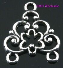 Tibetan silver pendants earring connectors findings Drop Earrings 22x19mm EH363