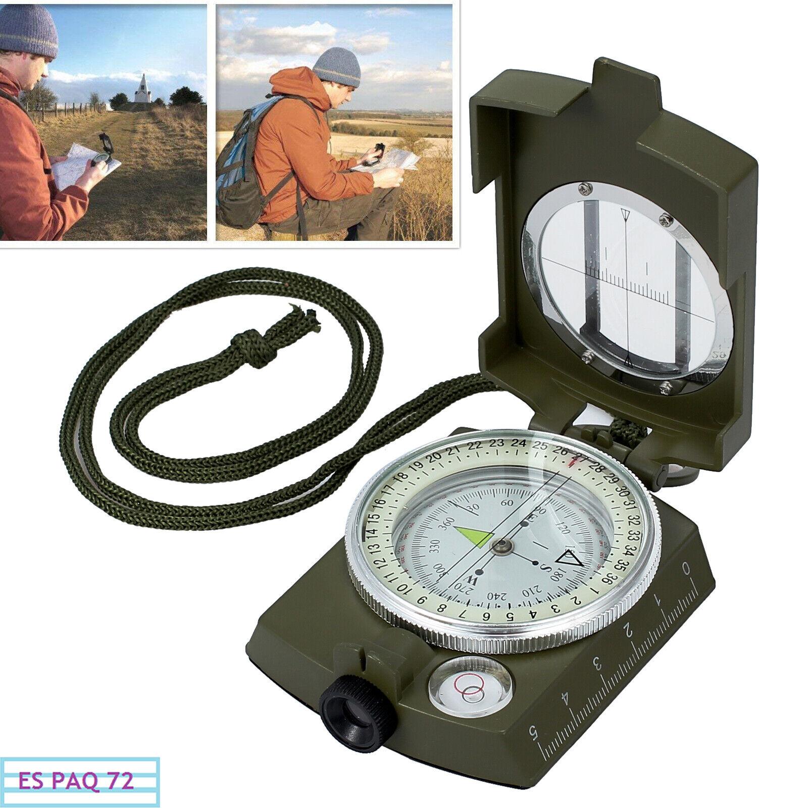 Brújula Militar Impermeable Proster Metal Para Apuntar Clinómetro + Bolsa Cordón