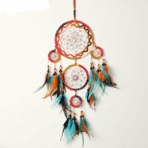 SKJIND Yongqin Native Indiano acchiappasogni Cattura Il Sogno Wind Chimes Fea...