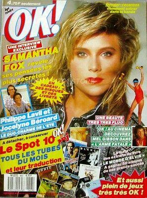 OK Magazine n°603 - 1987 - Samantha Fox - Philippe Lavil - Mel Gibson - Béroard