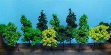 "MULTI SCALE-MODEL SCENERY-MIXED COLOR TREES-2 SIZES-4 3/8"" & 3 1/2""-13 PCS TOTAL"