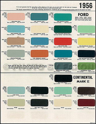1956-1957 Lincoln Continental Mark II Paint Chips RARE 9 Original Color Samples