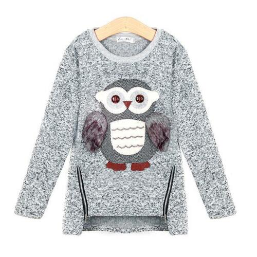Girls Sweater Outerwear For Spring Clothing Owl Designed Top Casual Kids Clothes