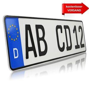 1 x eu kfz kennzeichen kurz 460 x 110 mm nummernschilder autokennzeichen dhl ebay. Black Bedroom Furniture Sets. Home Design Ideas