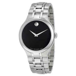 Movado Museum Black Museum Dial Stainless Steel Men's Watch 0606367