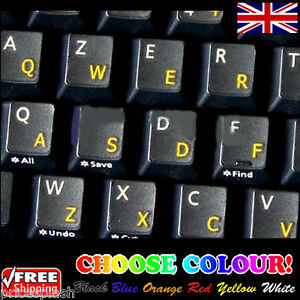 English Uk Transparent Keyboard Stickers For Laptop Notebook Computer 6 Colour Ebay