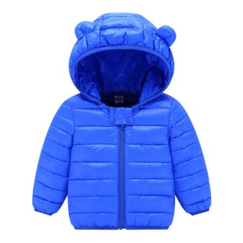 Kinder Baby Jungen Mädchen Daunenmantel Langarm Kapuze Warme Jacke Schneeanzug