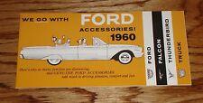 1960 Ford Accessories Sales Brochure Falcon Thunderbird & Truck 60