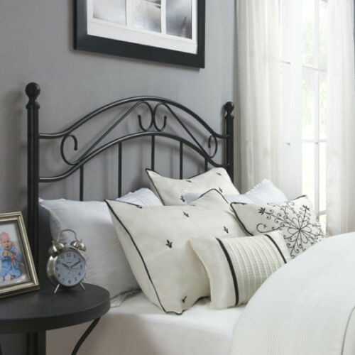 Metal Classic Headboard Full Queen Size Black Vintage Bed Frame Traditional