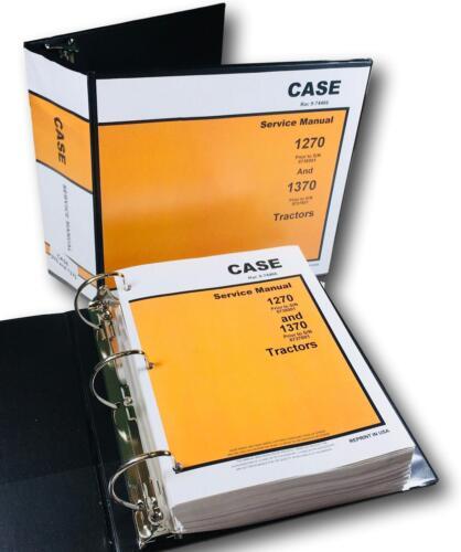 CASE 1270 1370 TRACTOR SERVICE REPAIR MANUAL TECHNICAL SHOP BOOK OVERHAUL